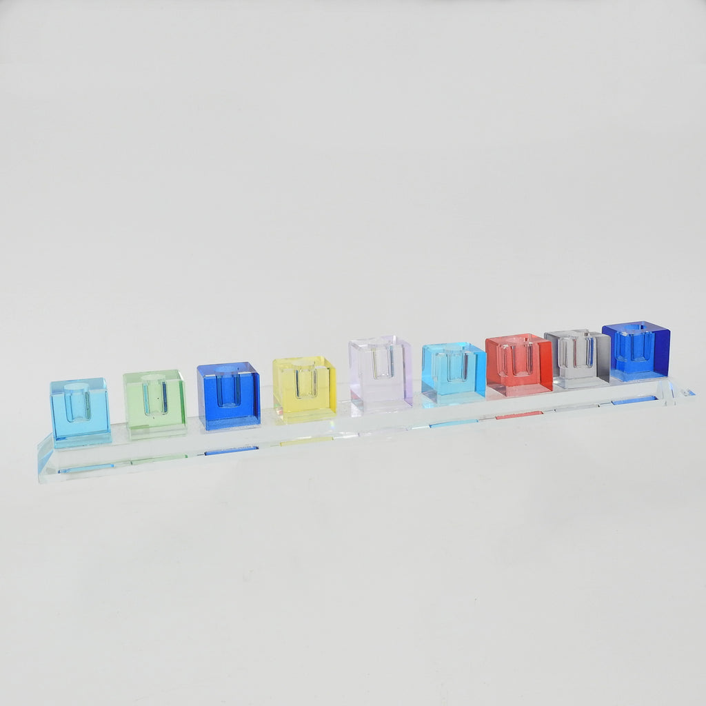 Crystal Cube Menorah