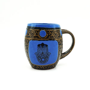 Blue Hamsa Mug With Spoon