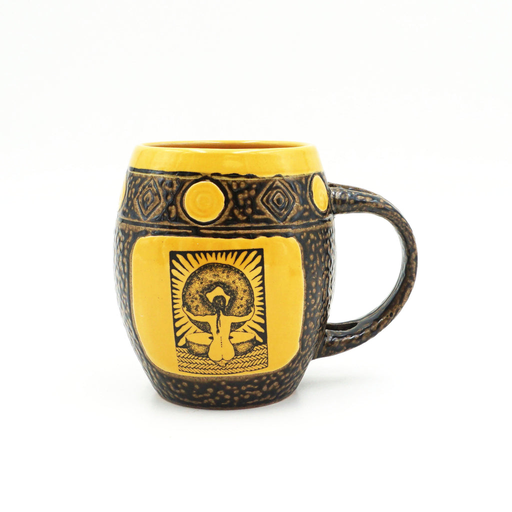 Yellow Goddess Mug With Spoon