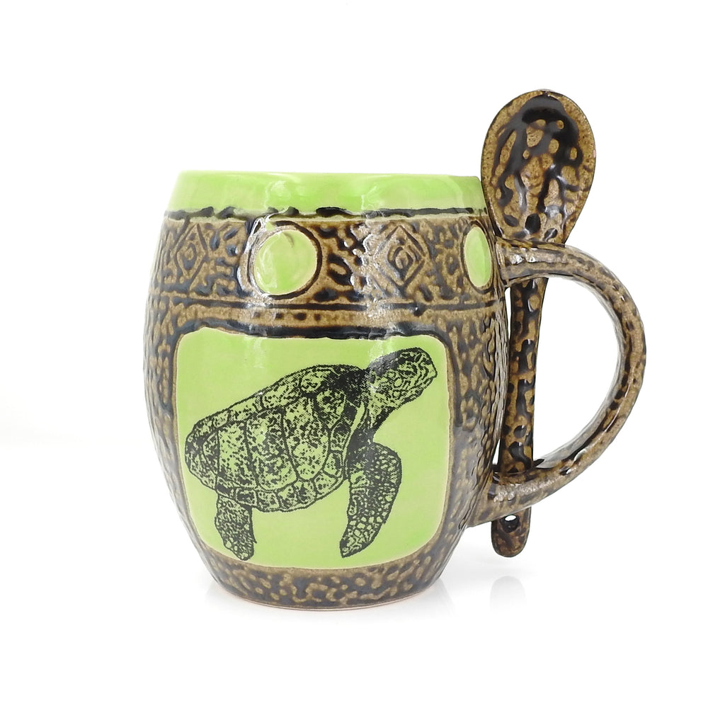 Green Sea Turtles Mug W Spoon