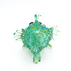 Art Glass Puffer Fish Green