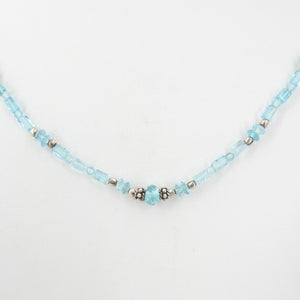 Apatite Beaded Necklace w/ Sterling Silver