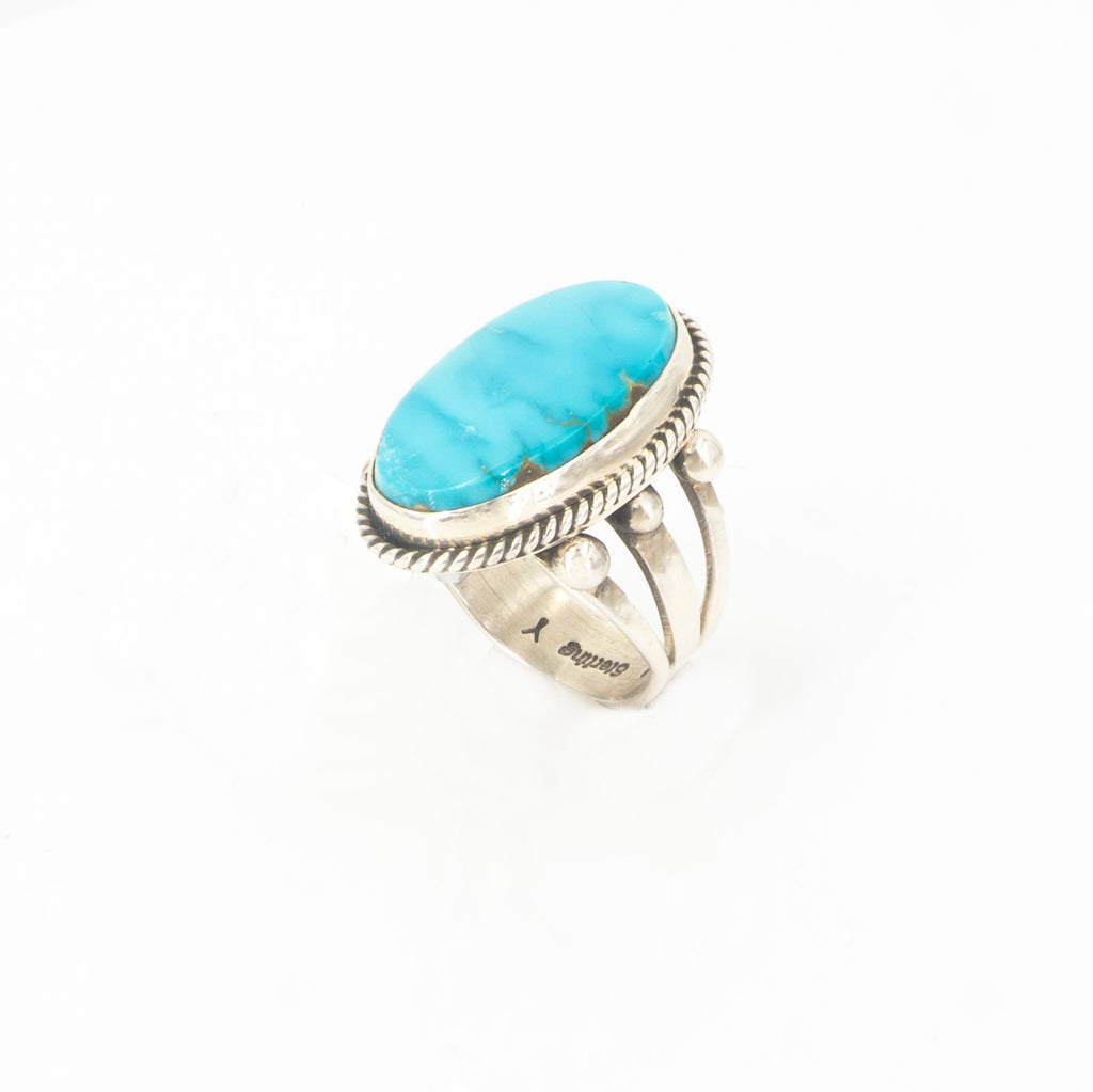 S/S Turquoise Ring 7.5