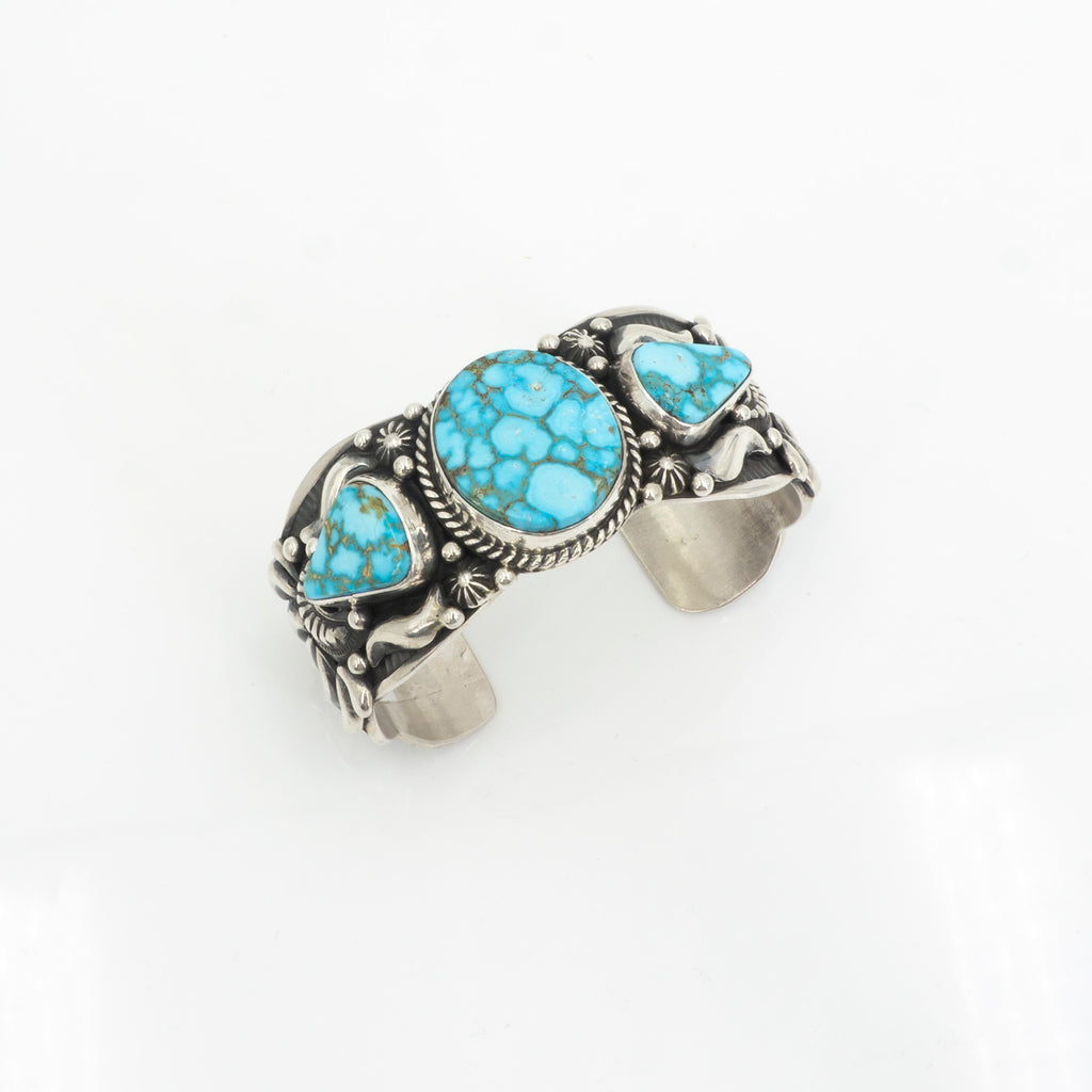 S/S 3 Stone Kingsman Turquoise Cuff