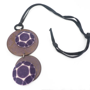 Fashion Necklace Army Purple