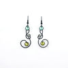 Bubbles & Swirls Earrings, Green