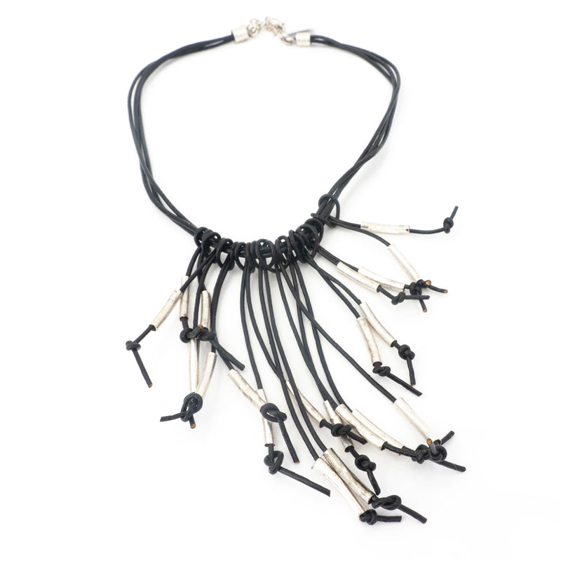 Pewter Leather Necklace