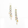 S/S Rose Gold Amethyst Apatite Earring