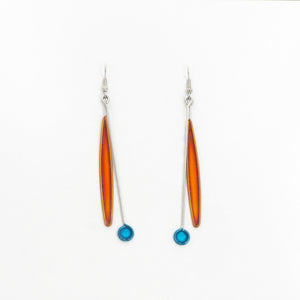 Stainless Orange Blue Earrings