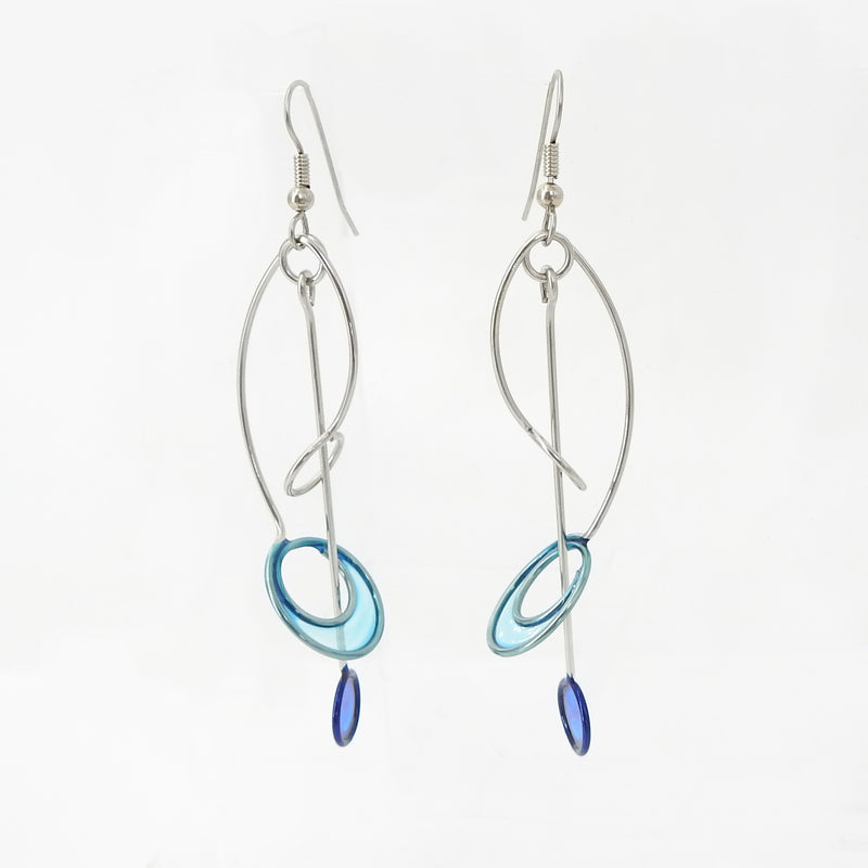 Stainless Resin Blue Teal Earring