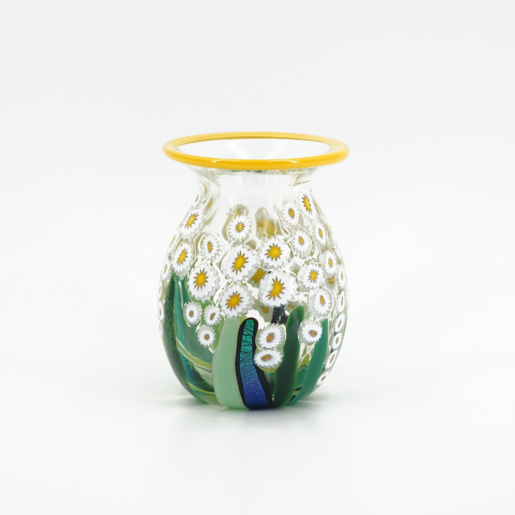 Clear Daisy Mini Round Vase