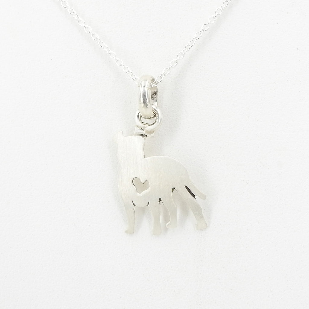 S/S Dog Heart Pendant