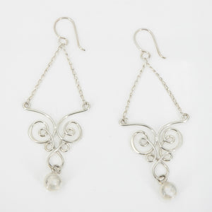 Sterling Silver Abstract Dangle Earrings