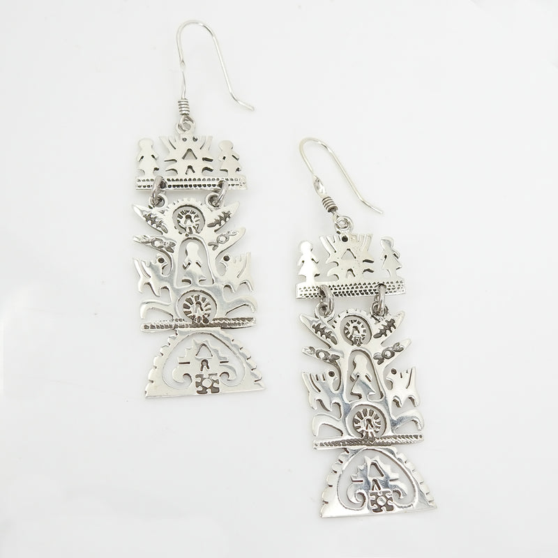 Sterling Silver Abstract Earrings