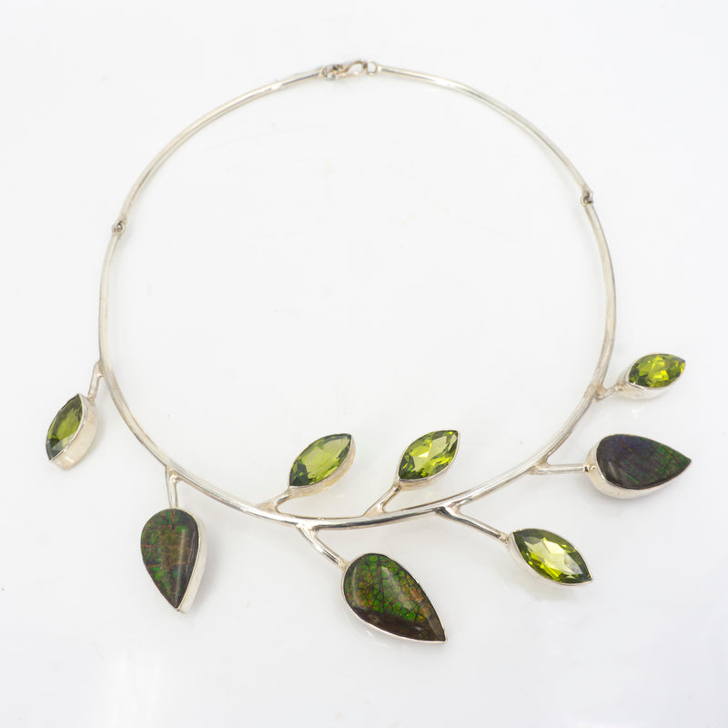S/S Ammolite Zultanite Necklace