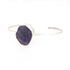 S/S Amethyst Rough Cuff