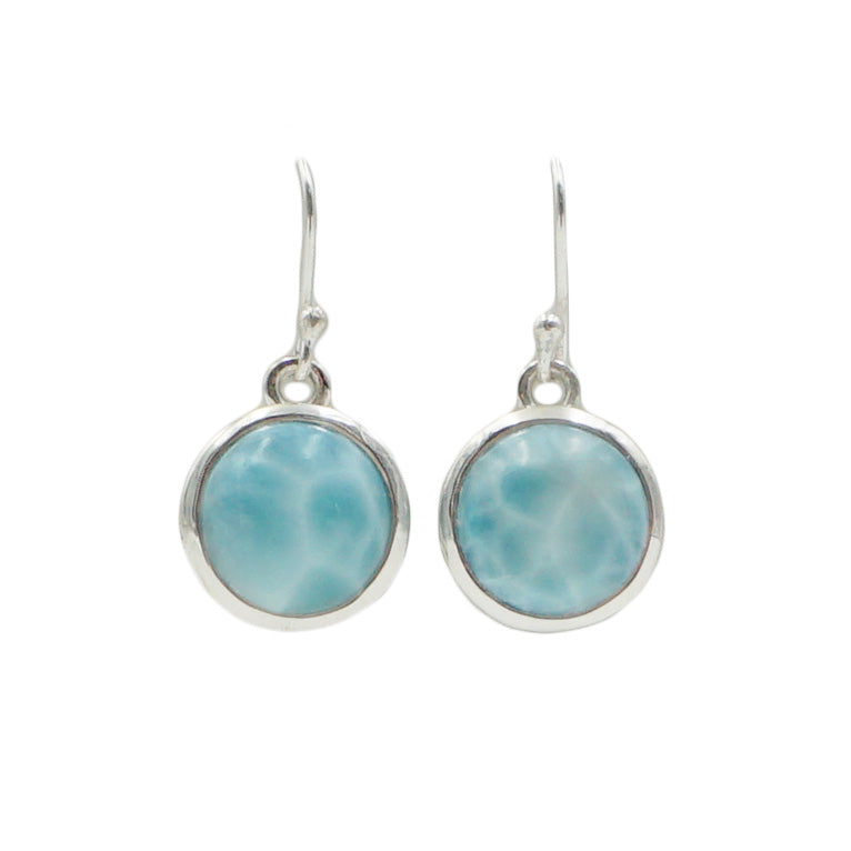 Larimar Circular Earrings