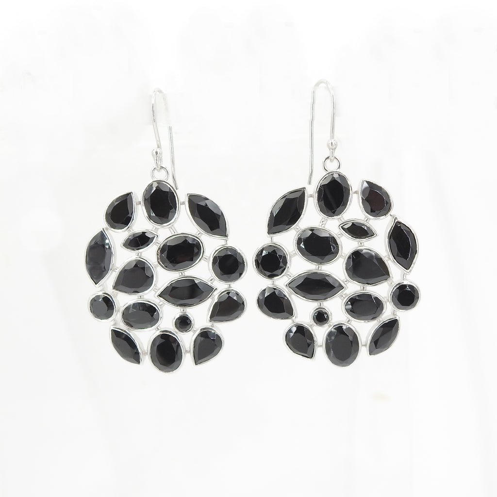 S/S Black Spinel Earrings