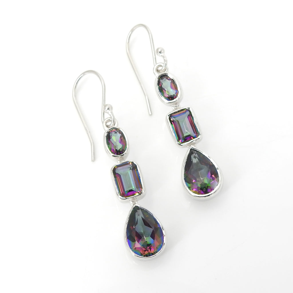Sterling Silver Mystic Topaz Earrings