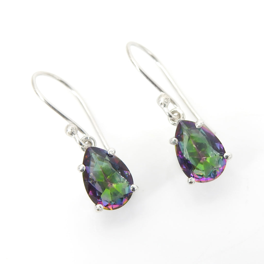 Sterling Silver Mystic Topaz Drop Earrings