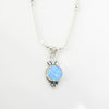 Sterling Silver Created Opal Necklace