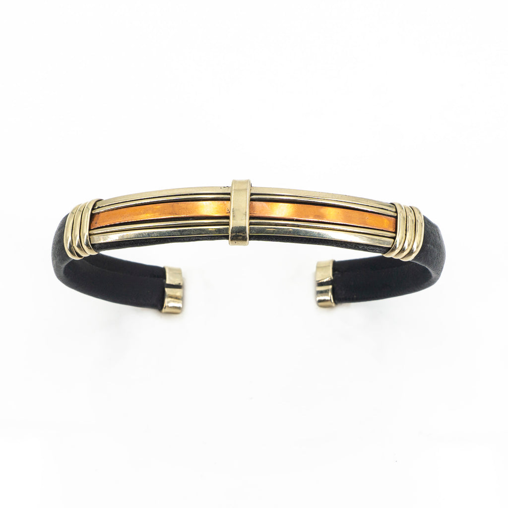 Stainless Steel Copper Cuff BLK Thin