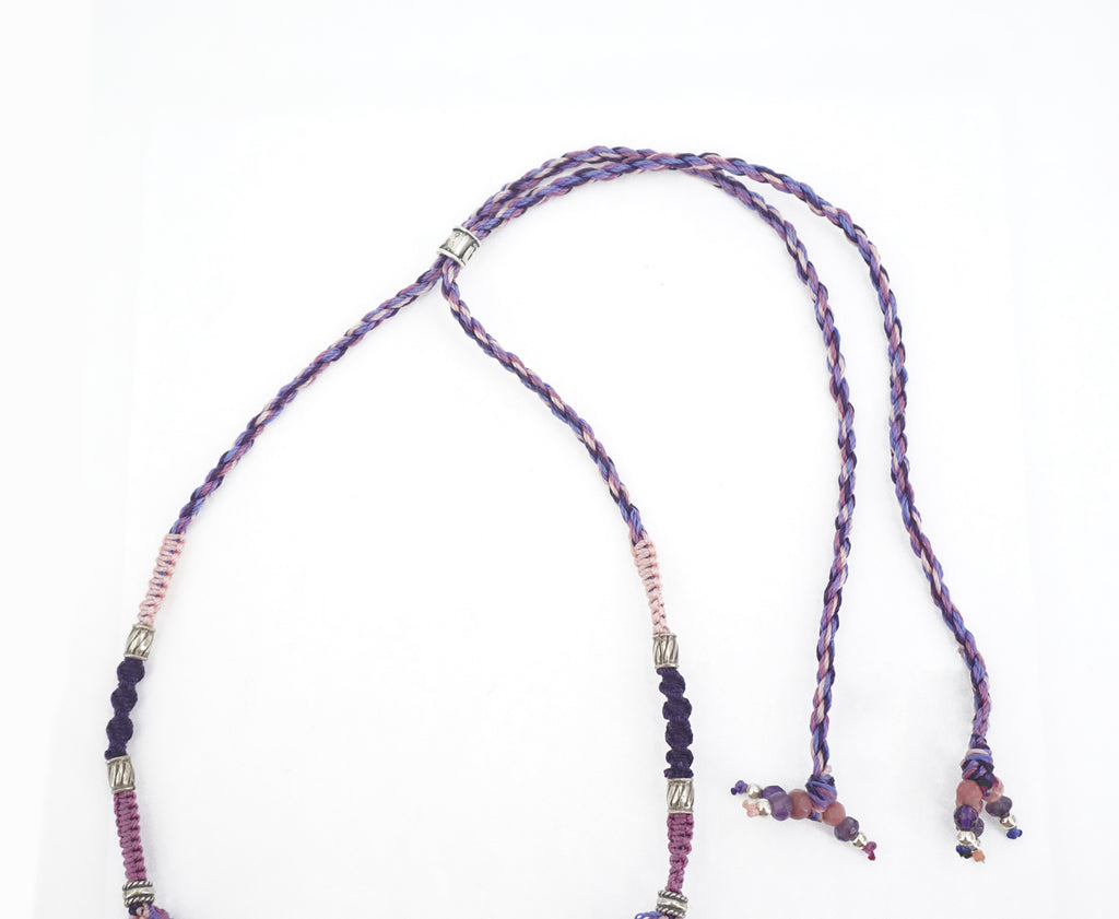 Amethyst Knotwork Necklace