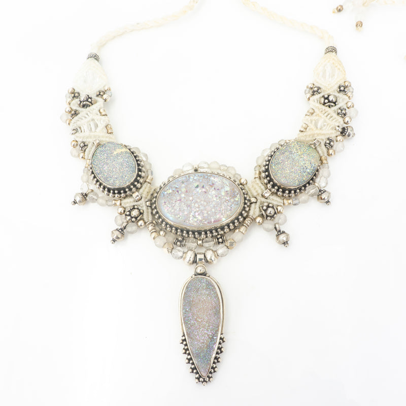 S/S Druzy Knotwork Necklace
