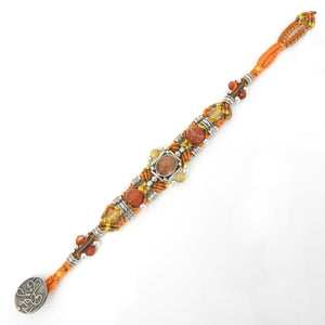 Isha Elafi Super 7 and Carnelian Knot Work Bracelet