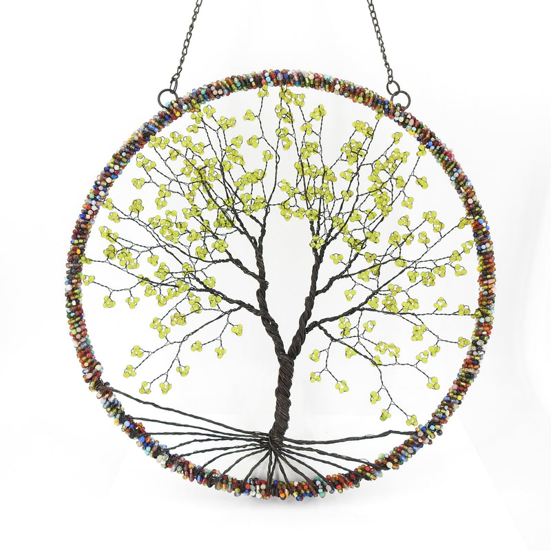 Beaded Tree of Life Wall Hanging