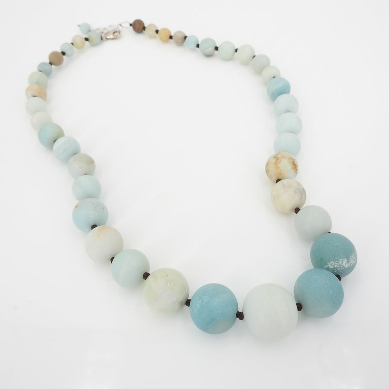 S/S Blue Chalcedony Necklace
