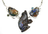 Boulder Opal Frog Necklace