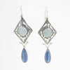 Sterling Silver Chalcedony & Kyanite Earring