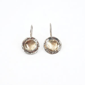S/S Two Tone 9KT Gold Fill Earrings