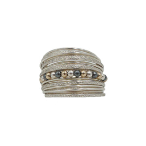 Silver Ring with 14KT Gold-Fill Beads