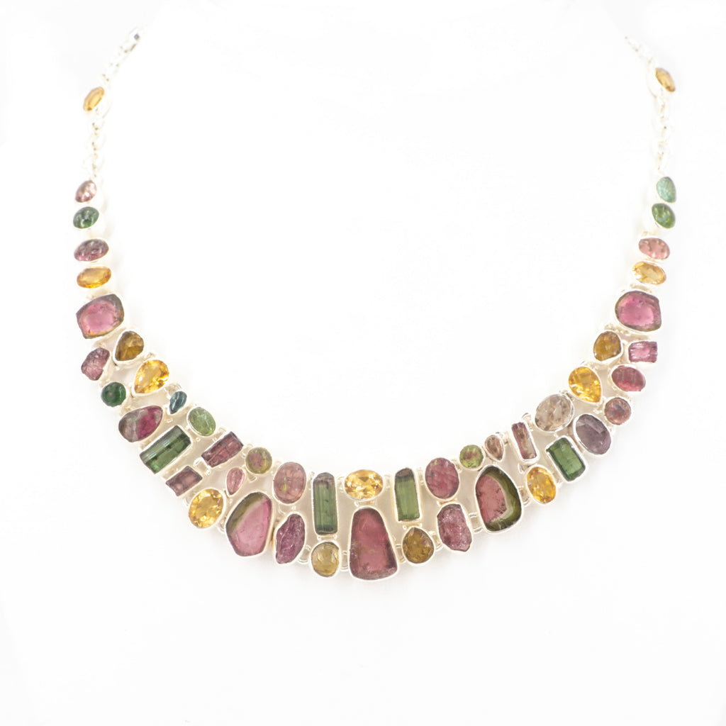S/S Mixed Tourmaline Citrine Necklace