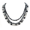 S/S Hematite Onyx Beaded Necklace
