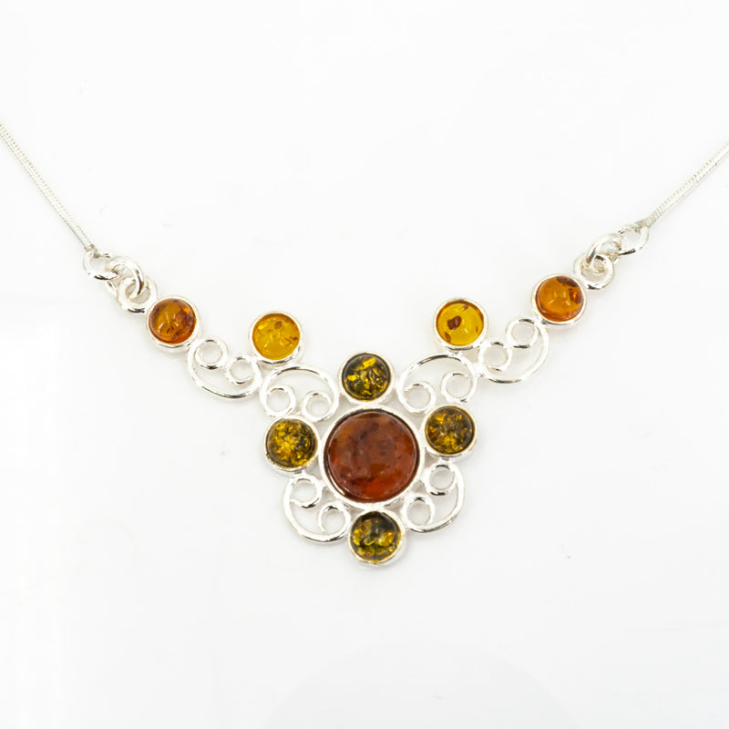 S/S Amber Filiagree Necklace