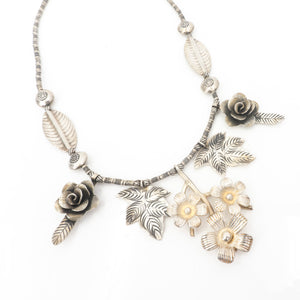 S/S Hill Tribe Silver Flower Necklace