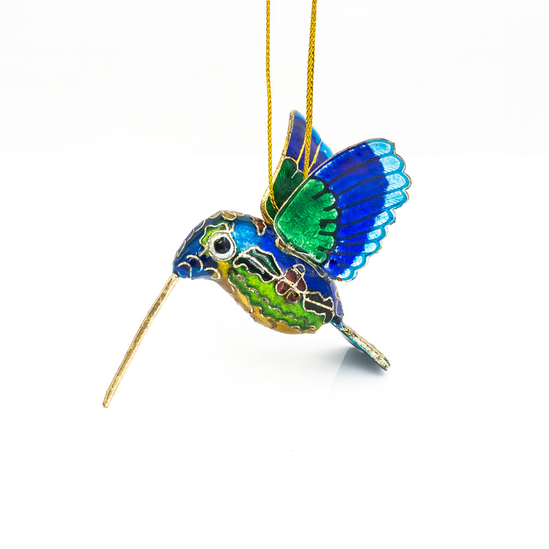 Humming Bird Blue Ornament