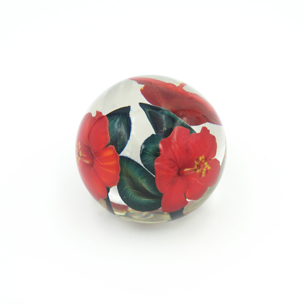 Red Hibiscus Paperweight