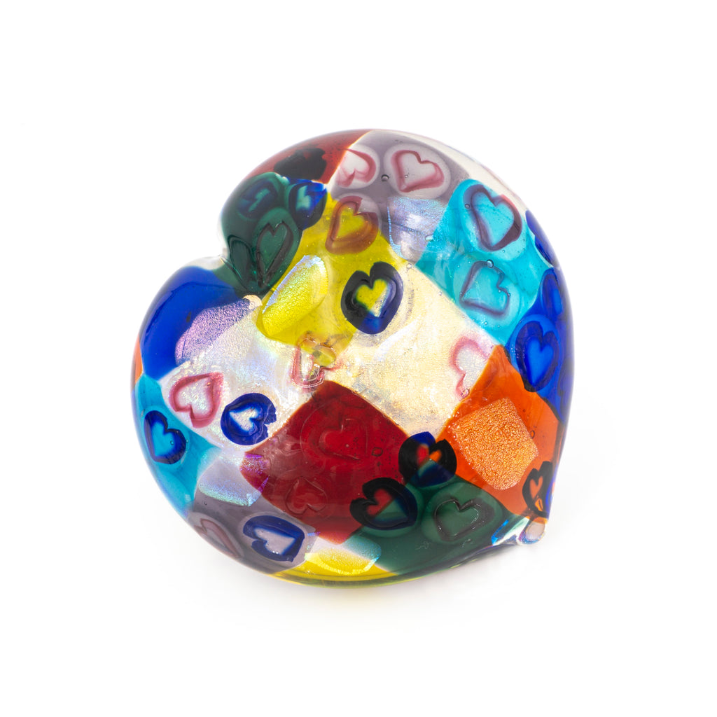 Heart Patchwork Paper Weight