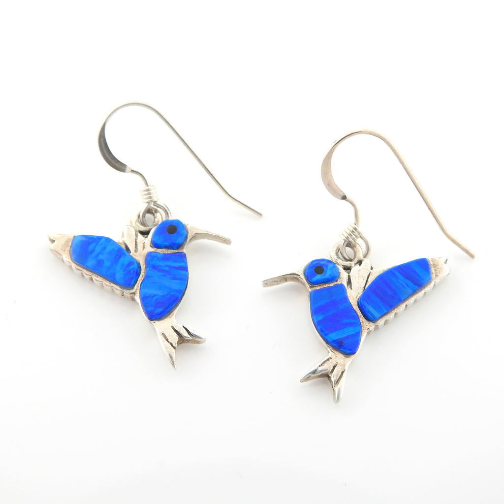 Sterling Silver Created Opal Love Birds