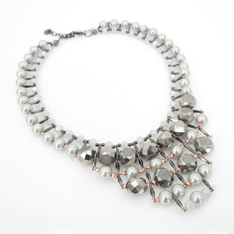 Grey Pearl Fashion Necklace