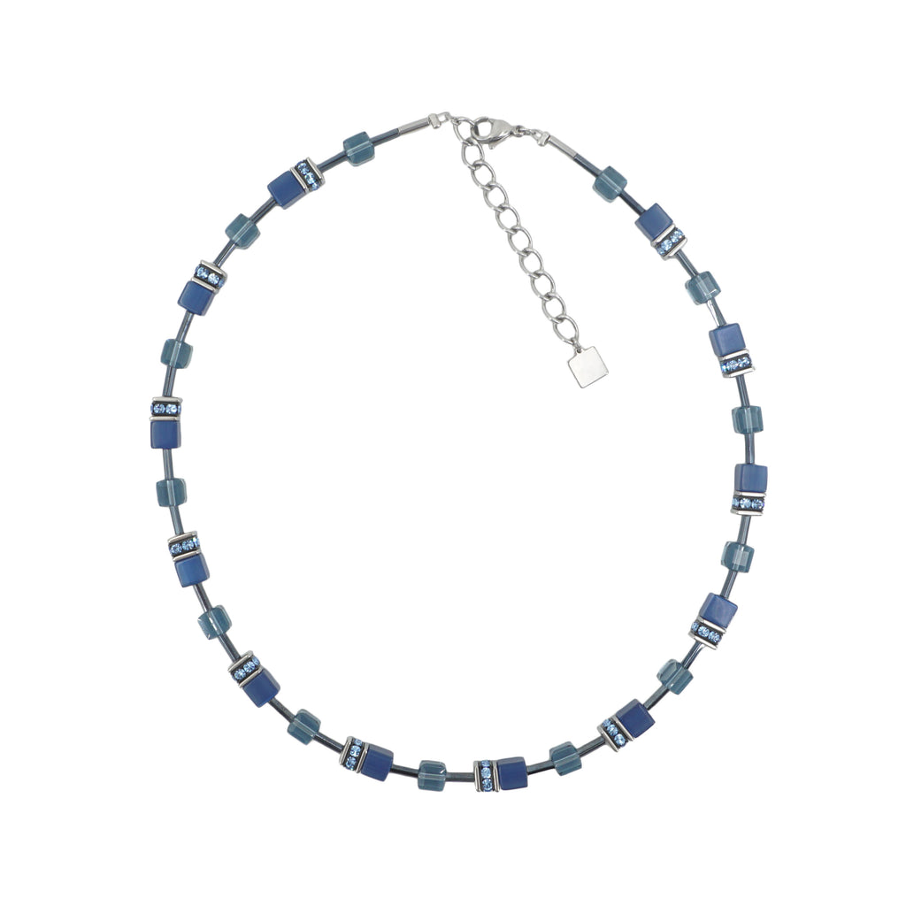 Cat Eye Blue Swarovski Crystal Necklace
