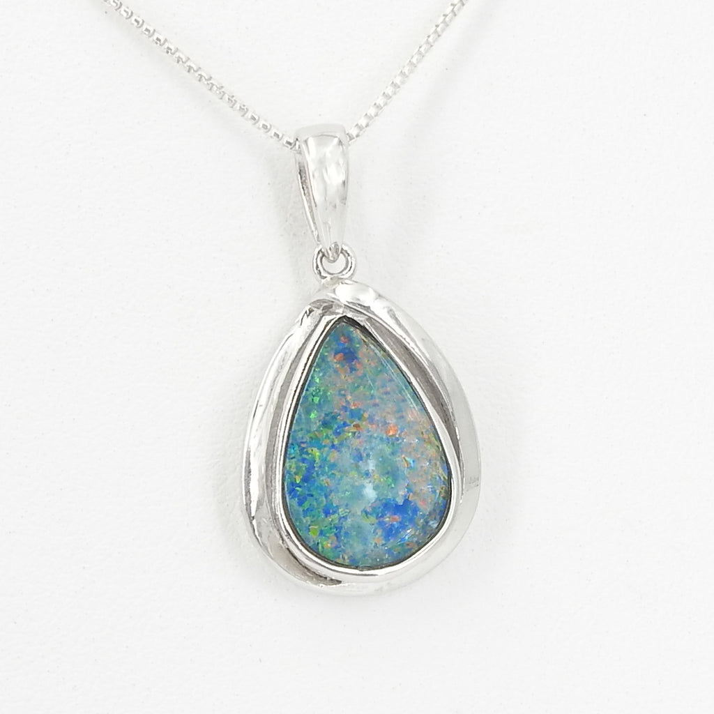 Sterling Silver Natural Opal Pendant