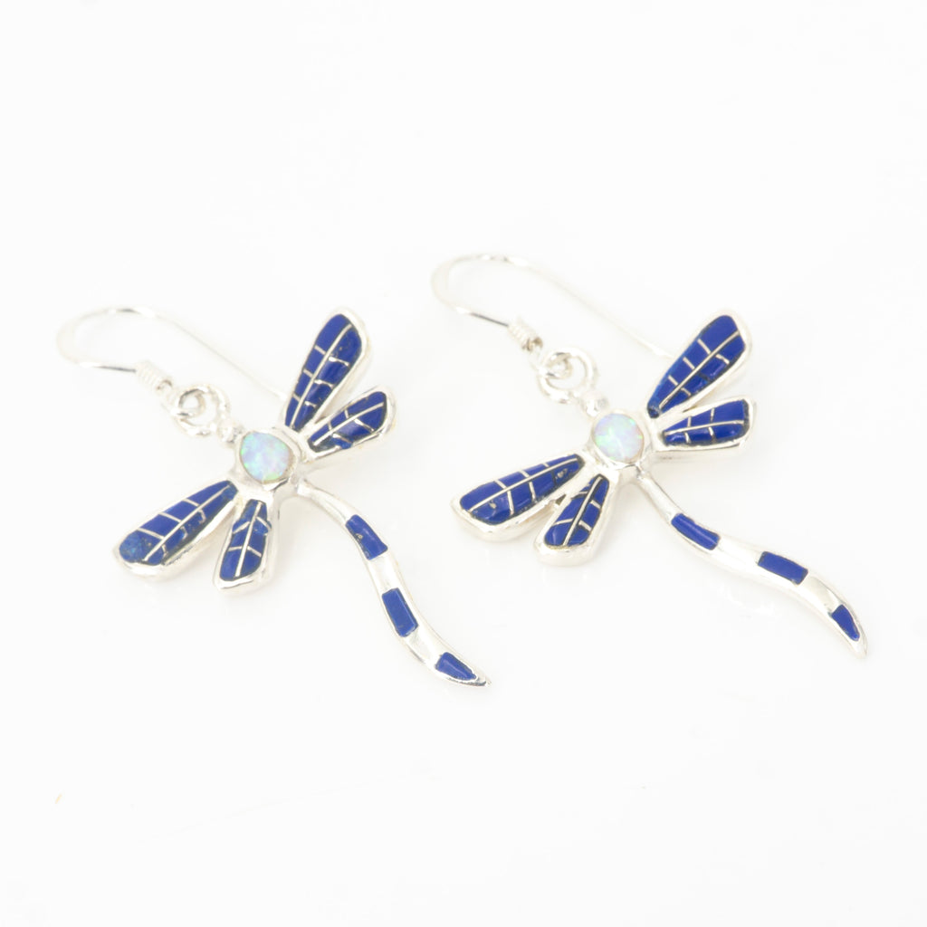 S/S Dragonfly Inlay Earring