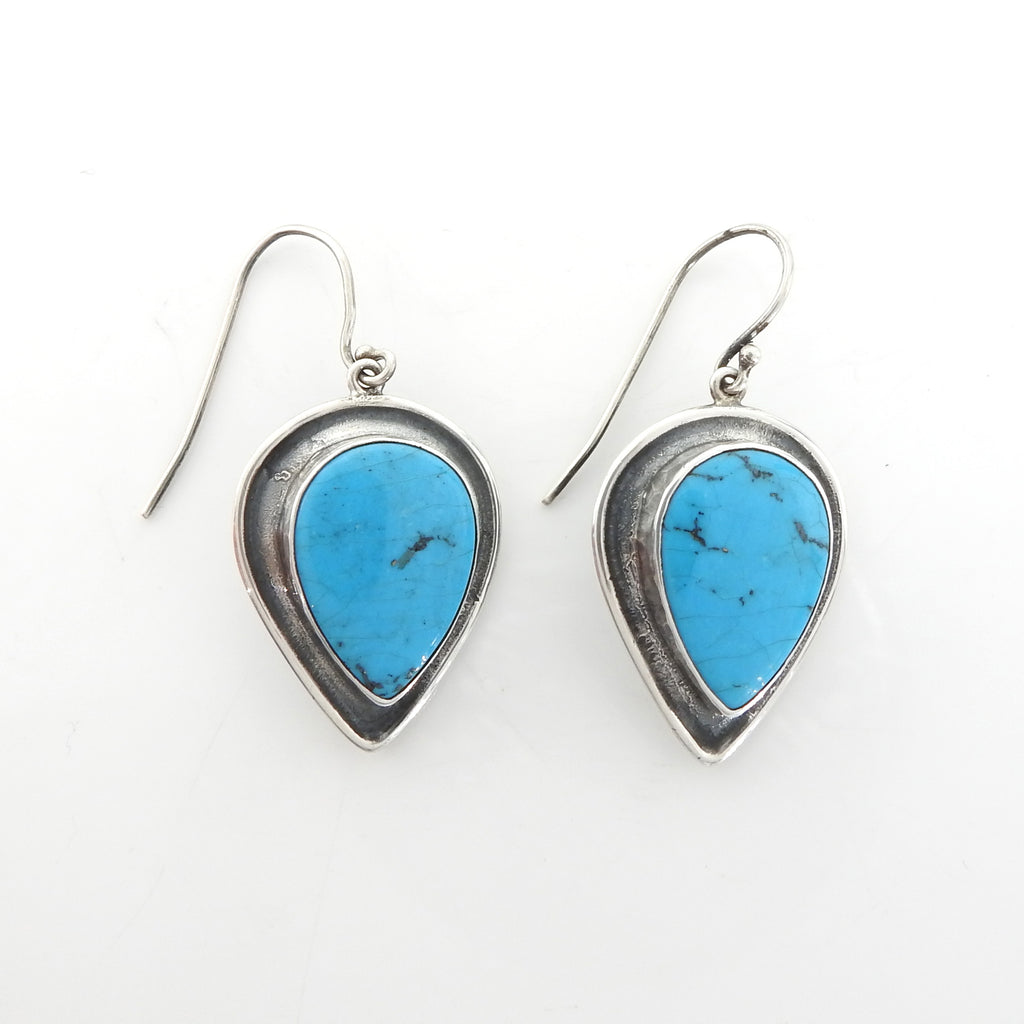 Sterling Silver Native American Turquoise Earrings