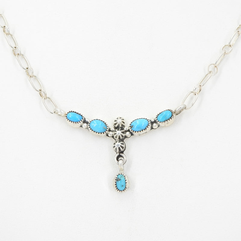 Sterling Silver Sleeping Beauty Turquoise Necklace