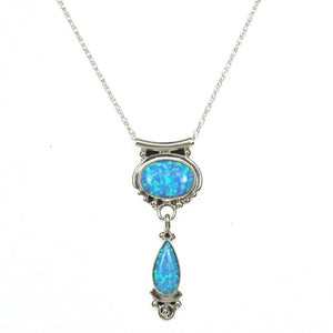 Double Lab Opal Pendant